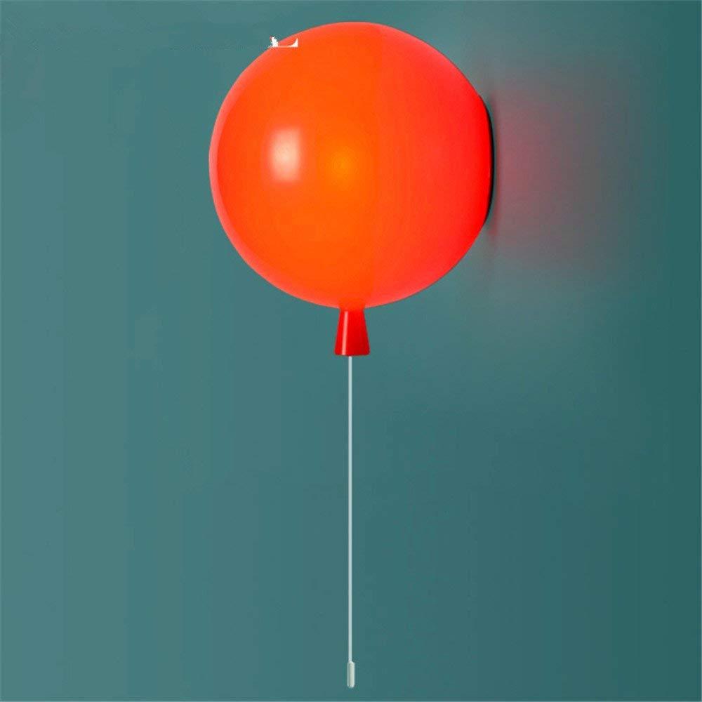 Irinay Minimalistische Wandleuchte Wandleuchte E26 E27 Der Ballon Art Kreativ Schlafzimmer Der Kinder Zimmer Bedside Led Wandleuchte Durchmesser 25 Cm (Farbe   Colour-Größe)