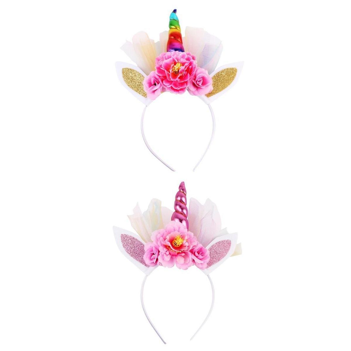 MagiDeal 2pcs Accessoires de Bande de Cheveux Fille Bijoux de Cheveux Décoration de Robe Rose