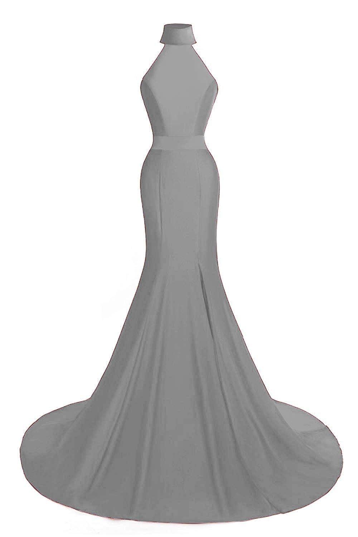 Ruiyuhong Womens Long Mermaid Evening Dresses Side Split Evening Gowns for Women Formal