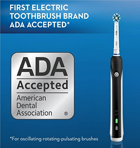 Oral-B-Pro-1000-Electric-Power-Rechargeable-Battery-Toothbrush-with-Automatic-Timer-and-CrossAction-Brush-Head-Black-Powered-by-Braun