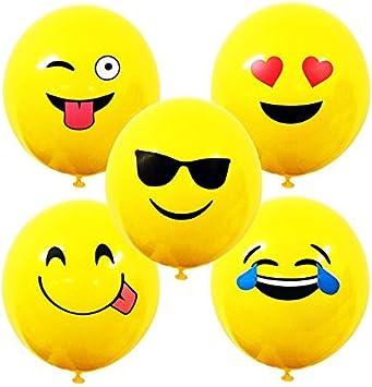 Large Emoji Smiley Punch Balloons Kids Toys Party Loot Bag Filler Decor Pinata