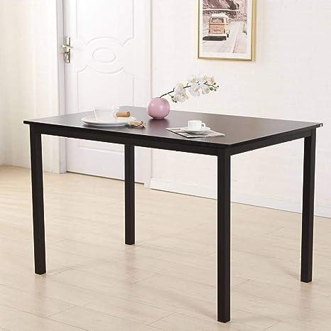 Amazon.com: Binlin Mesa de comedor, marco de hierro, mesa ...