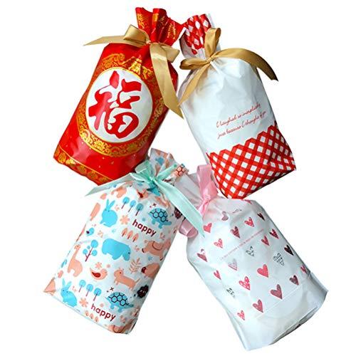 Biscotti Bomboniere Bestonzon Articoli Con borse goody Cordone Feste Candy 50pcs borse Bags Bags Per PrwprOz0qx