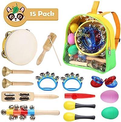 Juego de instrumentos musicales para niños, 15 piezas, juguetes de ...
