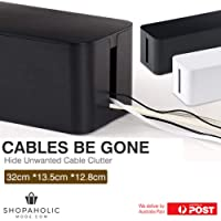 Cables Be Gone Black Cable Wire Management Box Organiser