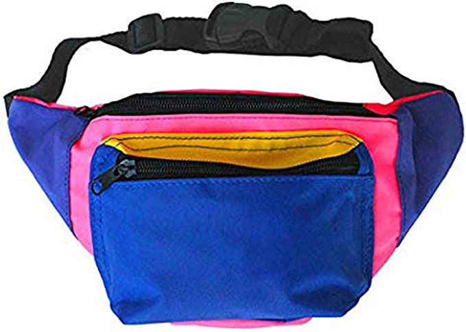 Vintage Handbags, Purses, Bags *New* MIAIULIA 80s Neon Waist Fanny Pack for 80s CostumesFestival Travel Party #Other  AT vintagedancer.com