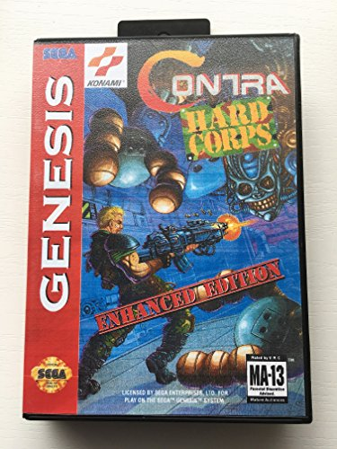 Contra: Hard Corps Enhanced Edition (Sega Genesis / Megadrive) - Reproduction Cartridge with Clamshell Case and Manual