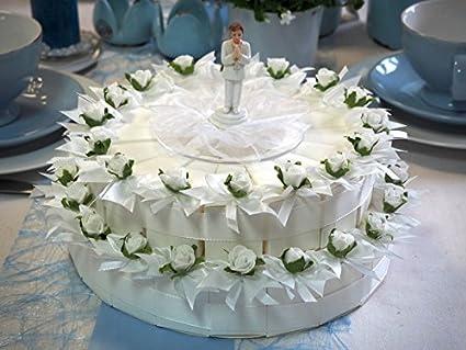 36 Regalos Decoración Blanco para tartas comuniones, confirmaciones o niño