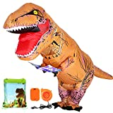 ANNTOY T Rex Costume Inflatable Dinosaur Costume with Exclusive Drawstring Bag Halloween Costume for Adult