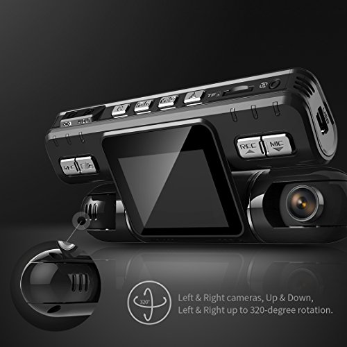 Pruveeo MX2 Dash Cam Front and Rear Dual Camera for Cars, 240 Degree Wide Angle Driving Recorder DVR by PRUVEEO (Image #3)