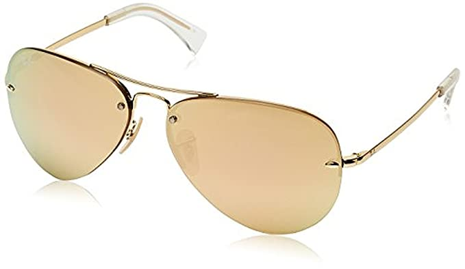 e647445de2dac Amazon.com  Ray-Ban RB3449 Sunglasses Gold Gold 59mm   Cleaning Kit ...