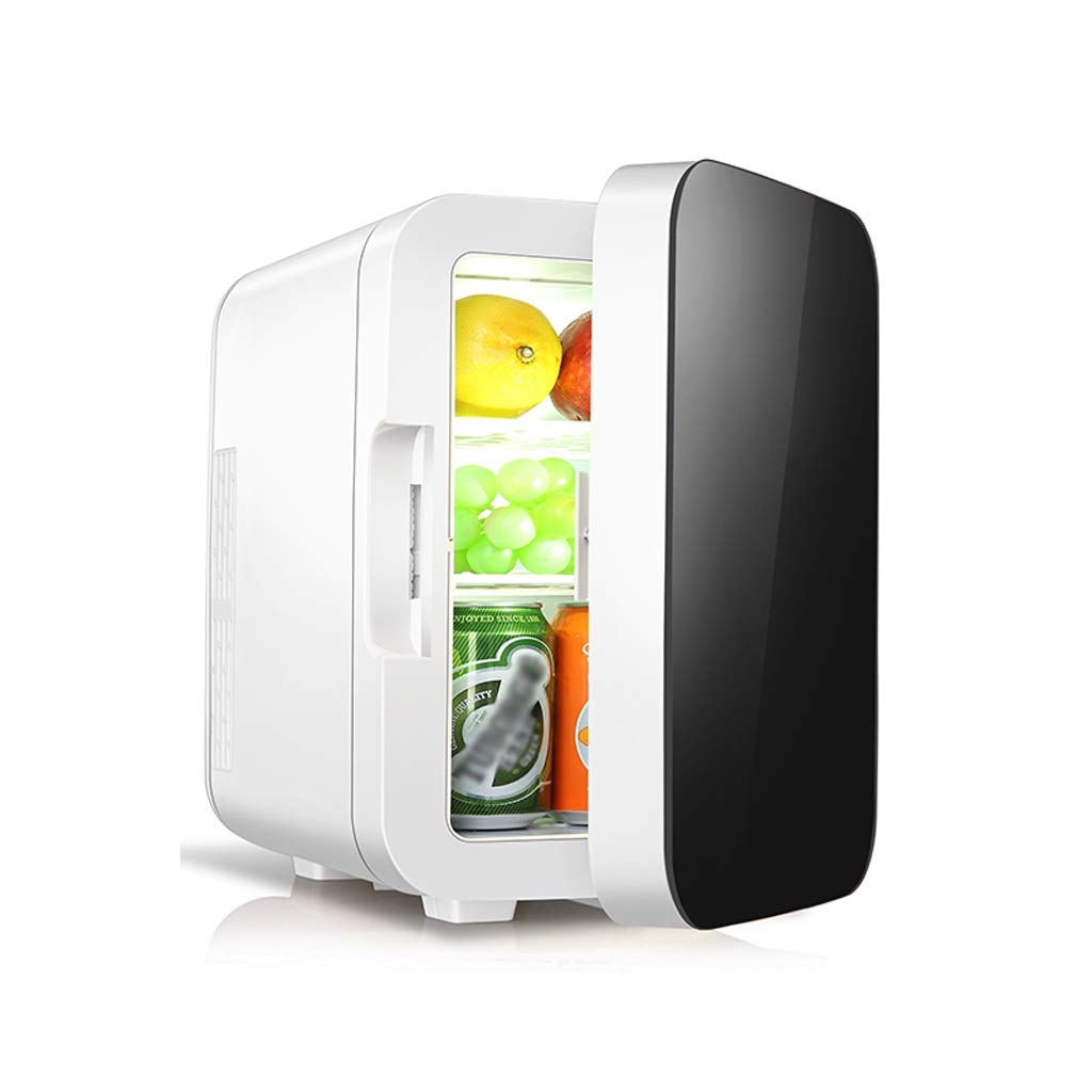 OLLY Brand 10L Mini Car Refrigerator, Warming Refrigeration Energy Saving Single Door Car And Home Dual-use, 2 Colors, 24X29X34cm (color : BLACK)