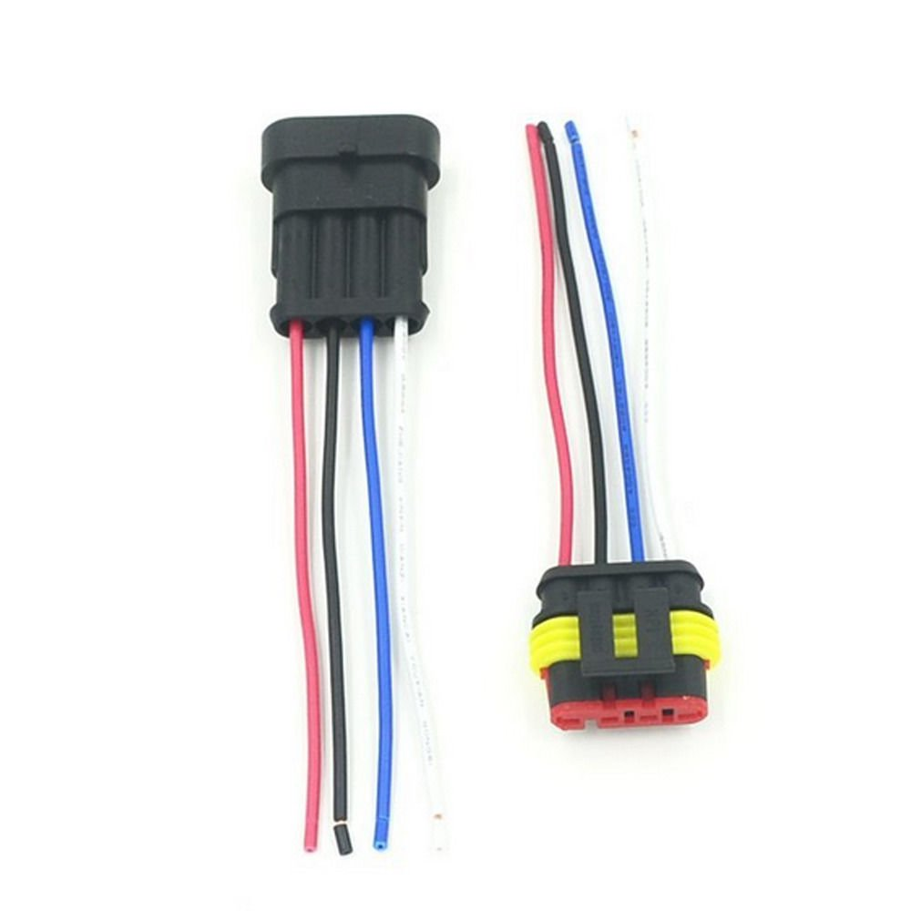 ZYTC 5 Pin Way Car Waterproof Wire Connector Plug Auto Electrical Wire Connectors AWG Terminal Pack of 5