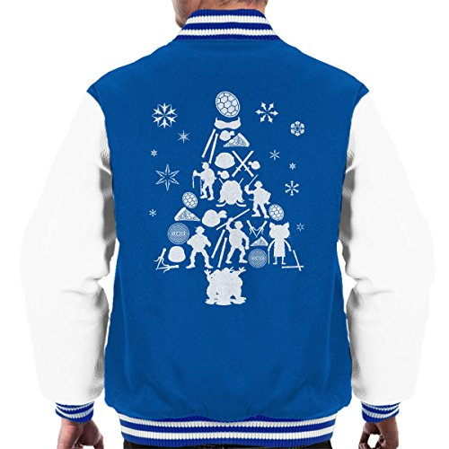 Turtles Teenage Royal Silhouette Tree Mutant Christmas Varsity Men's Jacket Ninja white EqRqf