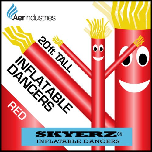 [20FT Red Skyer  Wacky Waving Inflatable Fly Sky Guy Puppet Advertising Dancing Tube] (Inflatable Wacky Waving Tube Man)