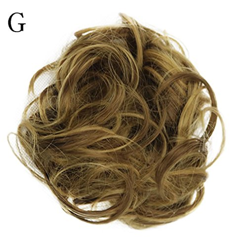 G Unit Costume (Iuhan Curly Messy Bun Hair Twirl Piece Women's Scrunchie Wigs Extensions Hairdressing)