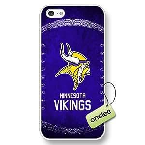 NFL Minnesota Vikings Team Logo Case For Samsung Note 3 Cover White Hard Plastic Case CovWhite