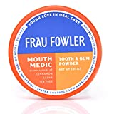 Frau Fowler Best Organic Tooth Powder - MOUTH MEDIC, Botanically Clean, Teeth-Whitening, Remineralizing, Fluoride Free, Gluten Free, SLS Free -Restores Enamel and Freshens Breath, 2 oz