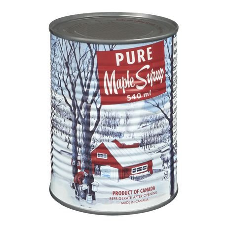 Pure Maple Syrup, Canada No 1 Medium,can 540ml Made in Canada  (Can Pure Maple Syrup)
