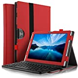 Galaxy Tab S4 9.7 SM-T835 Keyboard case, kuGi ®-High quality Ultra-thin Detachable Bluetooth Keyboard Stand Portfolio Case / Cover for Samsung Galaxy Tab S4 9.7 SM-T835 tablet(9.7 inch) (Red)