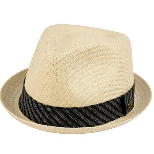 e134efc81c3 Mens Summer Fedora Cuban Style Upturn Short Brim Hat (L XL