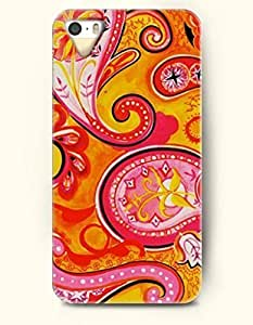 SevenArc Apple iPhone 5 5S Case Paisley Pattern ( Yellow and Red Mango Pattern )