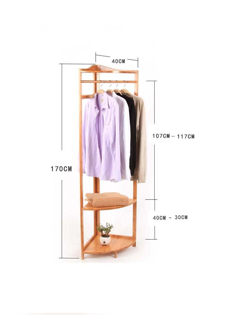 Porte-manteau Porte-manteau cintre rack de stockage d'étagère d'angle Porte-manteau étage coin de châssis de coin