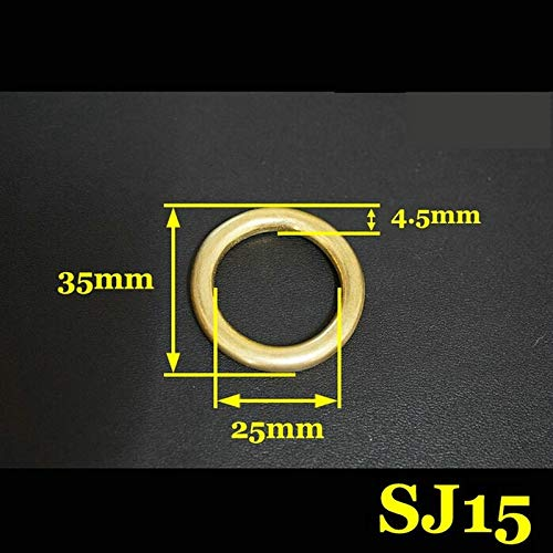Ochoos 50PCS/LOT 45X58X6.5MM Brass Round O Ring Yellow Copper Forged and Seamless Hardware Accessories by Ochoos (Image #4)