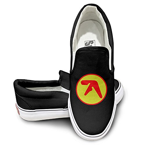 Mgter66 Aphex Twin Logo Fashion Slip On Shoes Unisex Style Color Black Size 40