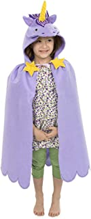 product image for Unicorn Dress Up Costume Hooded Cloak Cape for Kids, Polyester Felt, 38'' L Purple