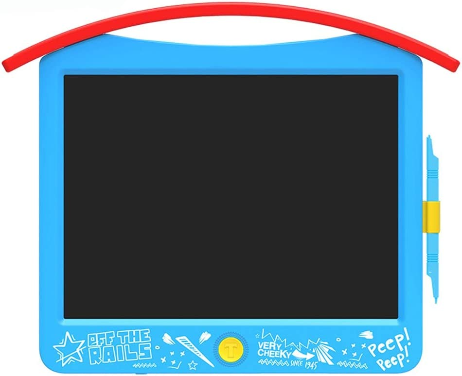 Office Blue - 15 Inch School Childrens LCD Writing Board//Smart Drawing Graffiti Board//Light Energy Small Blackboard//Suitable for Home
