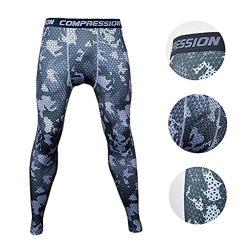 Camouflage Running Basketball Compression Leggings product image