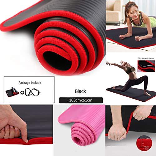 Overmal Tapis de Yoga d'exercice Tapis de Sol Grande Rembourré Extra épais 10 mm Antidérapant Soft Couverture de Entraînement Pilates Tapis d'entrainement pour Femme et Homme