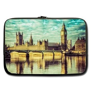 Big Ben Londres edificio Río mejor precio 17 inch Laptop/Ordenador portátil/ portátil (neopreno, resistente al agua (doble cara, sin correas): Amazon.es: ...