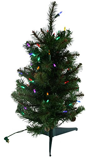 2 Foot Multi LED Lighted Sherwood Forest Artificial Christmas Tree [MXT45124LM]
