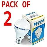 10w OREVA COOL WHITE LED BULB LAMP WITH SENSOR AUTO ON-OFF B22D (Pack of 2)