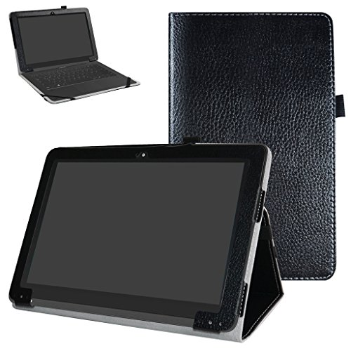 Yuntab B102 Case,Mama Mouth PU Leather Folio 2-Folding Stand Cover for 10.1 Yuntab B102 Android 6.0 Tablet,Black
