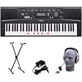 Yamaha EZ-220 61-Lighted Key Portable Keyboard Package with Headphones  Stand and Power Supply