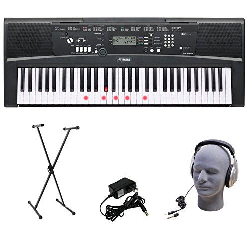 Yamaha EZ-220 61-Lighted Key Portable Keyboard Package with