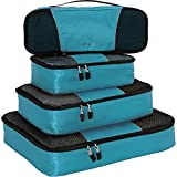 eBags Packing Cubes for Travel - 4pc Classic Plus Set - (Aquamarine)