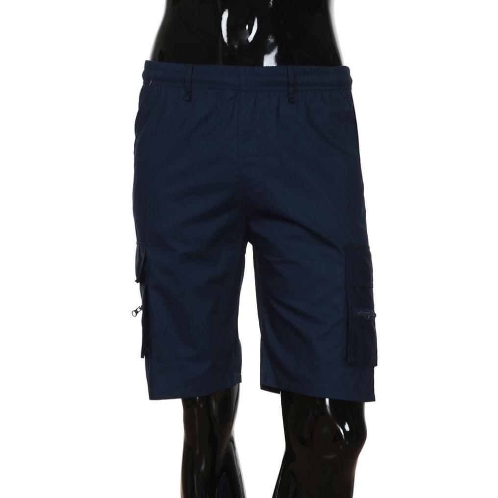 Yesmile Pantalones de Hombres Los Deportes del Trabajo Ocasional del Ejército del Cargo Pantalones Cortos Cintura Elástica: Amazon.es: Ropa y accesorios