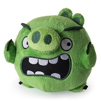 Angry Birds Cerdo Peluche 12 cm Plástico de peluche Beanie verde