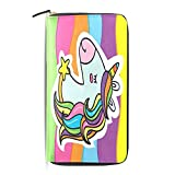Womens Wallets Rainbow Unicorn Zipper Clutch Purse Long Passport Id Travel Handbag Organizer