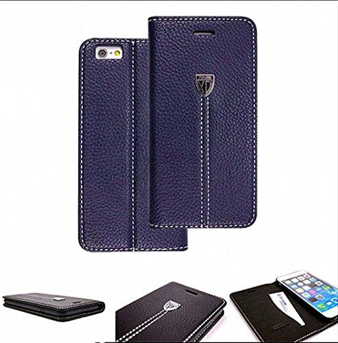 Luxus Echt Leder Handy Flip Case Cover Tasche Schutz Hülle Etui Silikon Bumper Für Apple IPhone 6