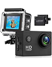 Busuo UYH-01 170° Wide Angle Lens Full HD 2 Inch LCD 30m Waterproof Screen Action Camera With 2 Rechargeable Batteries and All Necessary Accessories Kit