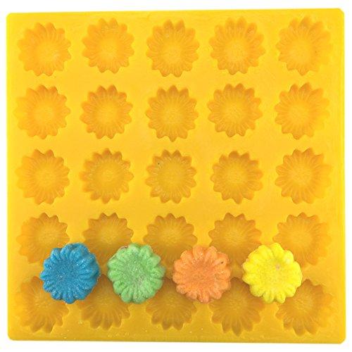 Daisy Soft Candy Cream Cheese Mint Mold Yellow Flexible by Guttman