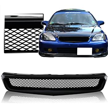 new 99 00 honda civic type r style abs mesh front grille new Accord Type R new 99 00 honda civic type r style abs mesh front grille new