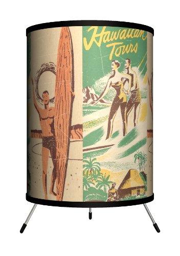 Lamp-In-A-Box TRI-SPO-SURTO Sports - Surfing Hawaiian Tours Tripod Lamp