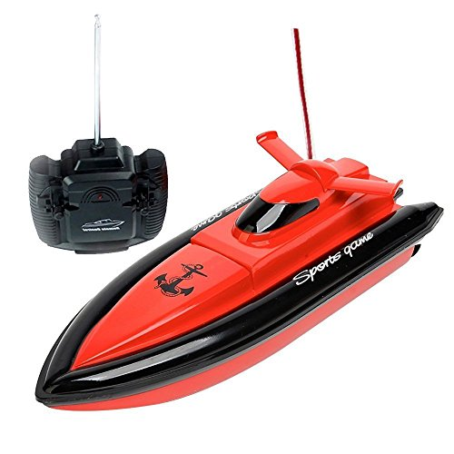 KINGEAR PLDH45 High Speed RC Boat Remote Control Electric Boat Red color (Only Works In Water)