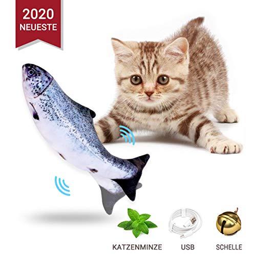 Odizli Neueste Katzenminze Fisch Spielzeug für Katze, Elektrische Katze Wagging Fisch Haustier Interaktives Spielzeug…
